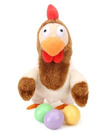 Woody O' Time Funny Egg Laying Hen Multi Color - 24 cm