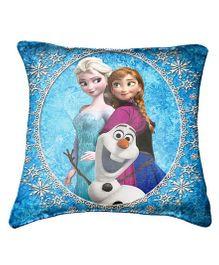 Disney Frozen Cushion Cover Throw Pillow by Belkado - Blue