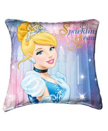 Disney Cinderella Cushion Cover Throw Pillow by Belkado - Blue And Pink