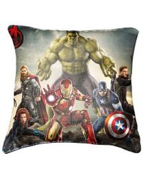 Marvel Avengers Cushion Cover By Belkado - Green