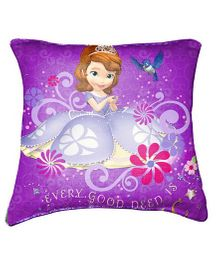 Disney Sofia Cushion Cover By Belkado - Purple