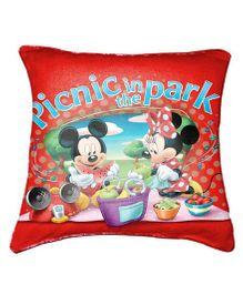 Disney Mickey Cushion Cover By Belkado - Red