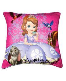 Disney Sofia Cushion Cover By Belkado - Purple Pink