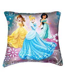 Disney Princessess Cushion Cover By Belkado - Yellow Blue Green
