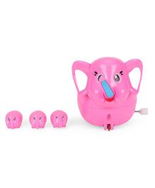 Playmate Wind Up Toy Elephant - Pink