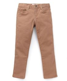 Fox Baby Full Length Solid Color Pants - Brown