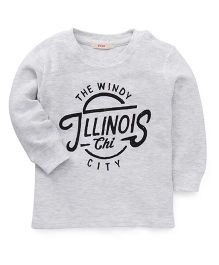 Fox Baby Full Sleeves Sweatshirt With The Windy Print - Light Grey