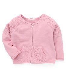 Fox Baby Full Sleeves Cardigan - Pink