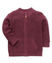 Fox Baby Full Sleeves Sweatjacket - Maroon