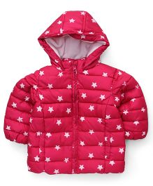Fox Baby Full Sleeves Hooded Jacket - Fuchsia