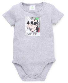 Fox Baby Half Sleeves Onesie - Grey