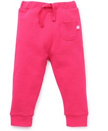 Fox Baby Solid Color Full Length Track Pant - Fuchsia