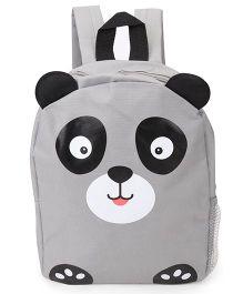 Fox Baby School Bag Bear Face Print Grey - 11 Inches
