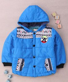 Adores Hooded Winter Jacket - Blue