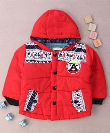 Adores Hooded Winter Jacket - Red