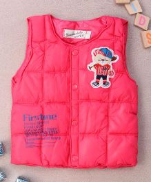 Adores Winter Vest Bear Style - Pink