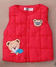 Adores Teddy Winter Sleeveless Vest - Pink