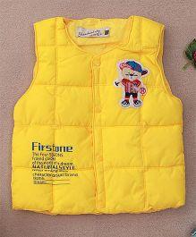 Adores Winter Sleeveless Jacket - Yellow