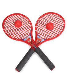 Marvel Spiderman Beach Tennis Racket Set Big - Red