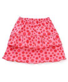 Tango Polka Dot Layered Skirt - Pink & Red