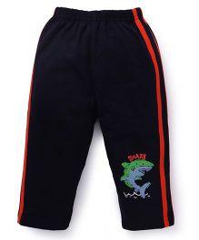 Tango Track Pants With Shark Print - Navy
