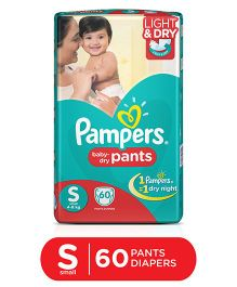 Pampers Pant Style Diapers Light And Dry Small - 60 Pieces
