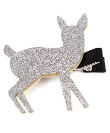 Wow Kiddos Deer Applique Clip - Silver