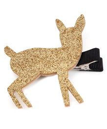 Wow Kiddos Deer Applique Clip - Golden