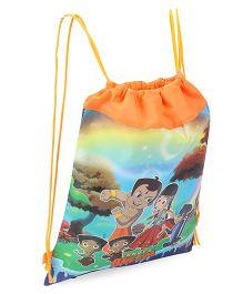 Sticker Baazar Chhota Bheem Drawstring Bag Orange - Pack Of 10