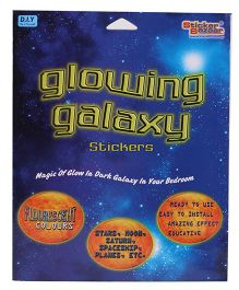 Sticker Bazaar Glowing Galaxy Stickers - Multicolor