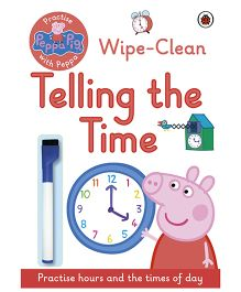 Peppa Pig Activity Book Wipe Clean Telling the Time - English
