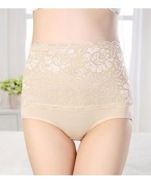 Aaram Antibacterial Eco Friendly Lace Panty - Skin Color