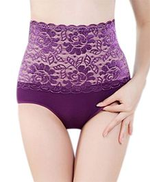 Aaram Antibacterial Eco Friendly Lace Panty - Purple