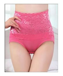 Aaram Antibacterial Eco Friendly Lace Panty - Dark Pink