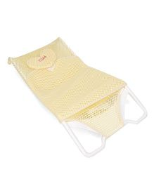 Bath Rack With Heart Design Head Support - Yellow