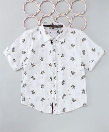 Popsicles Clothing By Neelu Trivedi Zebra Shirt - White