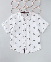Popsicles Clothing By Neelu Trivedi Zebra Shirt - White