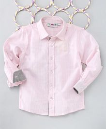 Popsicles Clothing By Neelu Trivedi Elbow Patch Shirt - Pink
