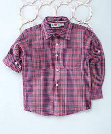 Popsicles Clothing By Neelu Trivedi Striped Shirt With Patch Pocket - Pink