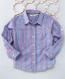 Popsicles Clothing By Neelu Trivedi Long Sleeves Shirt - Orange Blue Green