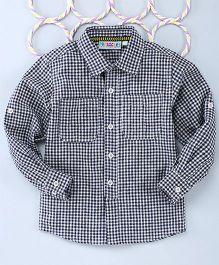 Popsicles Clothing By Neelu Trivedi Checks Shirt Long Sleeves - Black & White