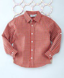 Popsicles Clothing By Neelu Trivedi Checks Shirt - Red