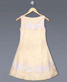Shilpi Datta Som Cut Work Design Dress - Peach