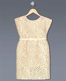 Shilpi Datta Som Cutwork Dress - Cream