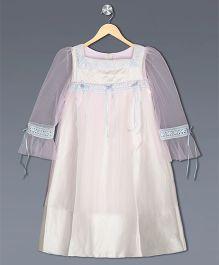 Shilpi Datta Som Flower Embroidered Dress - Light Pink