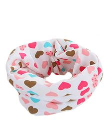 Bellazaara Autumn Winter O-Ring Hearts Infinity Neck Scarves - Multicolour