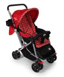 Mee Mee Stroller Cum Pram MM 20B - Red and Black