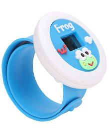 Analog Wrist Watch Frog Patch Dial - Blue