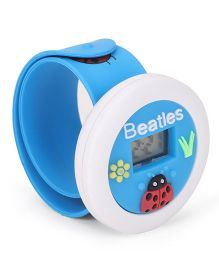 Digital Wrist Watch Lady bug Patch Dial - Blue
