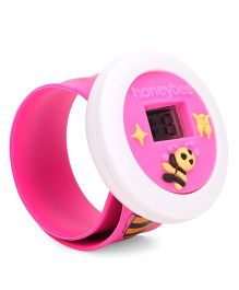Digital Wrist Watch Bee Patch Dial - Pink